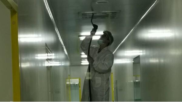 上海达沃在长征富民公司进行自净能力测试(洁净室检测)