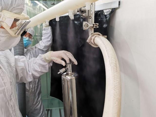 上海达沃于凯宝公司进行洗罐风整条流水线静态及动态的气流流型的测试