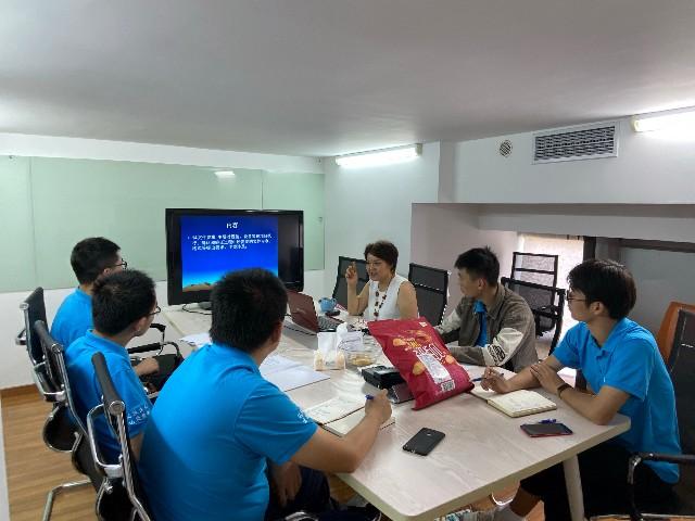 上海达沃组织员工进行内部培训,本次培训主题为《用户需求标准》