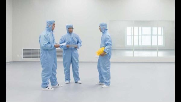 2021年2月1日,上海达沃为客户进行空调系统的检测(洁净室检测)